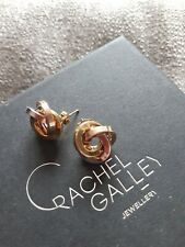 9ct Gold Earrings Tri Colour White Yellow Rose
