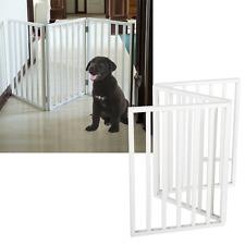 Foldable, Free-Standing Wooden Pet Gate- Light Weight, Indoor Barrier