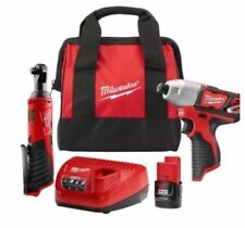 NEW Milwaukee M12 12-Volt 1/4 in. Impact Driver and 3/8 in. Ratchet Combo Kit