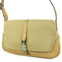 Sale! GUCCI Logos Jackie Canvas Leather Shoulder Bag F/S 1757b