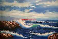 "36x48""(92x122cm)100%Hand Painted Oil Flat,Ocean,Seagull,Seascape,Sea Wave"