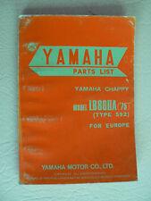 catalogue pièces YAMAHA CHAPPY de 1975