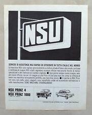 E360-Advertising Pubblicità-1965 - NSU PRINZ 4,1000