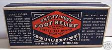 Conklin Pretty Feet Bx Medicine Chicago Old Store Stock