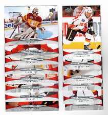 1X CALGARY FLAMES 2011-12 Upper Deck COMPLETE TEAM SET Base lot Series 1 & 2