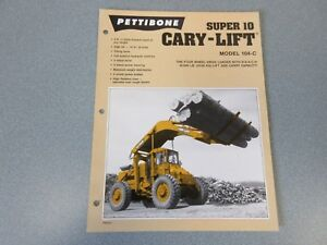 Rare Pettibone Cary Lift Super 10 Sales Sheet