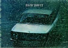 BMW 1800 Ti 1965-66 UK Market Sales Brochure