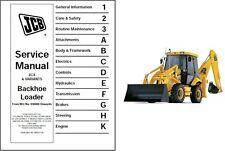 JCB 2CX Backhoe Loader Tractor Service Workshop Repair Manual CD   ..   -   2 CX