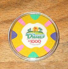 Vintage $1000. Dunes Casino Chip - Las Vegas, Nevada