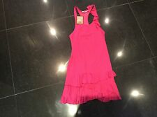 NWT Juicy Couture New & Gen. Ladies Small Pink Jersey Sleeveless Ruffle Dress