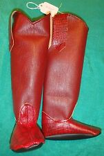 Red Alligator with Deep Red Vinyl Cowboy Boots for My Size Barbie Doll Mybt59