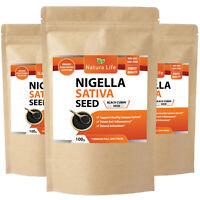 Organic Pure High Grade Nigella Sativa SEEDS (Black Cumin) immune support 100g