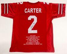 Cris Carter Signed Ohio State Buckeyes Career Highlight Stat Jersey (JSA COA)