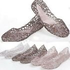 Fashion Summer Women Ventilate Crystal Jelly Breath Hollow Sandals Flat Shoes #