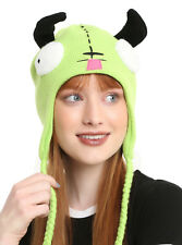 Invader Zim Gir Face Ears Cosplay Costume Peruvian Laplander Beanie Knit Hat NEW