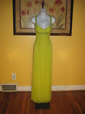 NWT  $198 Guess Peridot Green Jeweled Evening Maxi Gown Size 2