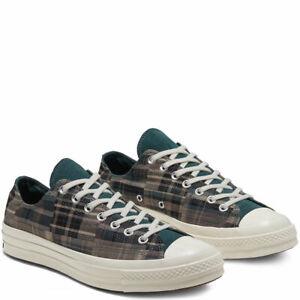 CONVERSE Unisex Black/Faded Spruce Chuck 70 Ox Sneakers M 9.5 / W 11.5 NIB