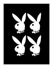 PLAY BUNNY CELL PHONE 2X3 (SET OF 4) PLAYBOY IPAD LAPTOP JDM TRUCK DECAL STICKER
