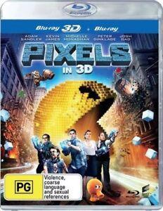 Pixels ( 3D  Disc Only)  Australian stock