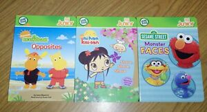 Lot(3) Books LeapFrog Tag Junior Backyardigans Nihao Kai-lan Sesame St Monsters