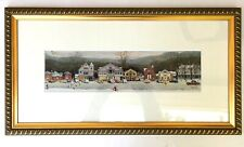 Norman Rockwell Stockbridge Main Street at Christmas Framed Matted under Glass