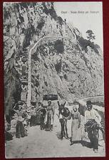 CAPRI Scala Antica per Anacapri animata viaggiata 1929  f/p #1828