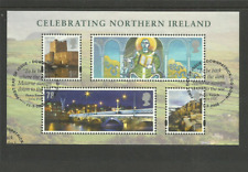 MS NI 152 GB CELEBRATING NORTHERN IRELAND VERY FINE USED MINI SHEET