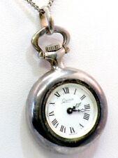 Quinn Silber 925 Damen Taschenuhr Anhänger Uhr Franz Scheurle Pendant Watch 60er