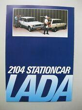 Lada 2104 Stationcar brochure Prospekt Dutch text 6 pages 1984