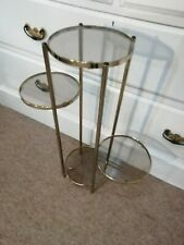 Vintage Gold Metal Display Stand , Shop Display Planter Stand