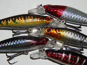 Pike Perch Bass Zander Rattling Fishing Lures Sinking Minnows