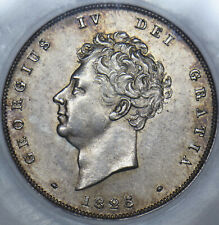 More details for 1825 shilling - slabbed cgs 80  - george iv british silver coin