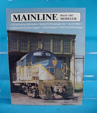 MAINLINE MODELER MAGAZINE MARCH 1987 W&LE DEPOT, ALCO PA-3, C&NW TOOL HOUSE