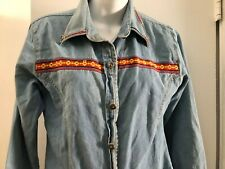 Women's Five Star By Roper denim Western Embroidered small cowgirl vintage