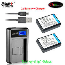 2Battery+Charger For Canon LP-E10 LPE10 EOS 1100D 1200D Kiss X50 X70 Rebel T3 T5