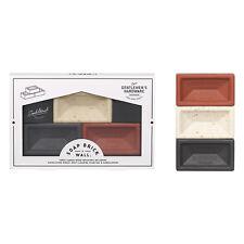 Hardware entre caballeros - 3 Mini Juego de jabón de ladrillo en caja de regalo de presentación