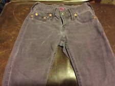 "True religion Jeans ""Casey"" Distressed Purple/violet Gently Used Size 24"