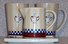 COFFEE SERVICE FOUR (4) PIECE SET (2 cups/1 Creamer/1 tray), New Never used