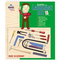 PEBARO 108P Laubsägeset: Kunststoffbrettchen + Drillbohrer + Werkzeug