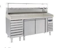 79500042 Gastronomie Pizzatisch Pizzakühltisch 7 Schublade Pizzatheke Kühltisch