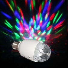 MINI LAMPADINA LED ROTANTE EFFETTO LUCI DISCO PARTY FESTE DISCO LAMPADA 3W E27