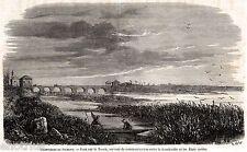 Frontiere del Regno di Sardegna: PONTE SUL TICINO, tra Trecate e Magenta. 1859
