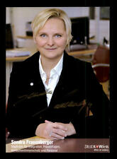 Sandra Frauenberger Autogrammkarte Original Signiert  ## BC 90101