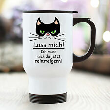 "TB102 Wandtattoo-Loft Thermo Mug Cat Cat Grumpy Grimly "" Lass Mich !"" Amusing"