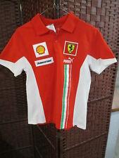 Puma Ferrari Polo Shirt Youth Boys Large Bridgestone Shell