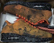 Nike Air Max 90 QS Mars Landing Stone Magma Orange Black Grey Infrared Sz 6