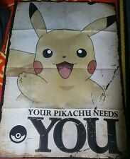 POKEMON Poster - YOUR PIKACHU NEEDS YOU - New Pokemon gaming poster FP4348