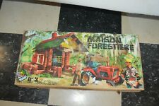 JEU  CONSTRUCTION LA MAISON FORESTIERE  BOIS MASSIF JEU JURA VINTAGE 1960