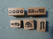Worth Repeating Rubber Stamp ~ Plates, Napkins,Coffee Grinder, Books, Socks SET