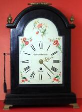 RICHARD MARSHALL ANTIQUE ENGLISH 8 DAY ARCHED DIAL EBONISED BRACKET CLOCK